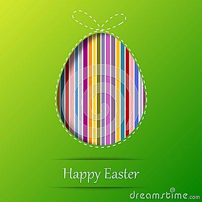 Easter egg. Greeting card