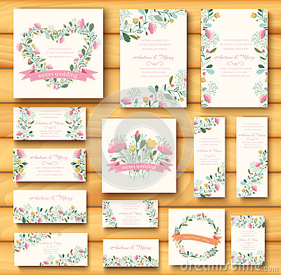 Free Colorful Greeting Wedding Invitation Card Royalty Free Stock Image - 47609156