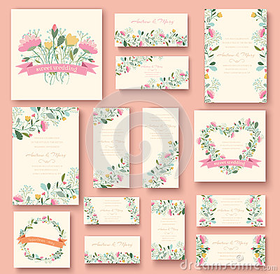 Free Colorful Greeting Wedding Invitation Card Stock Photo - 47609160
