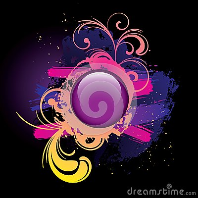Colorful_grunge_background_and_purple_button