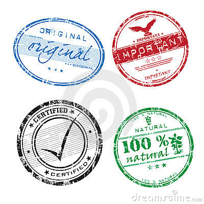 Free Colorful Grunge Rubber Stamps Stock Photography - 7864292