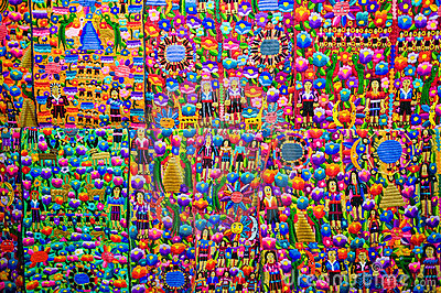 Colorful Guatemalan fabric