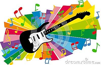 Colorful guitar illustration