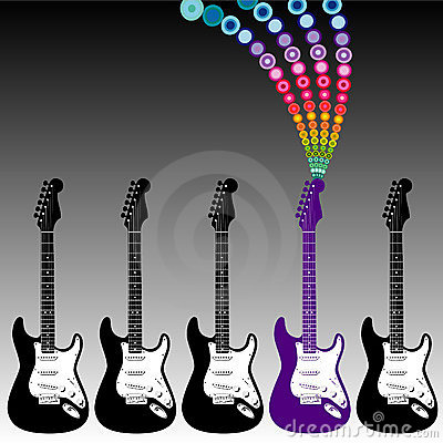 Colorful guitar music
