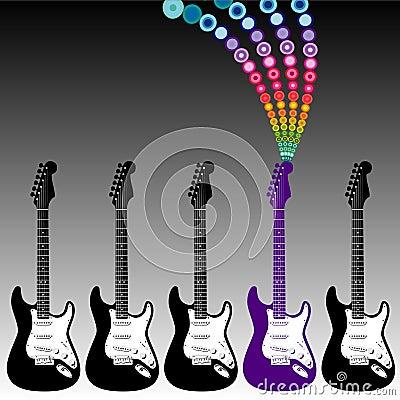 Colorful guitar music