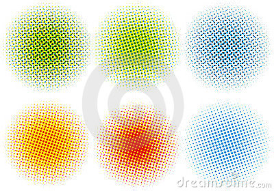 Colorful halftone dots,