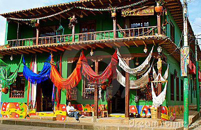 Colorful hammocks for sale, Colombia Editorial Image