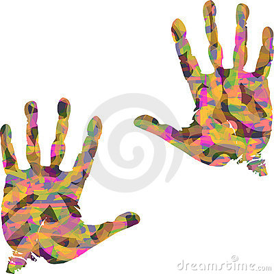 Colorful hand