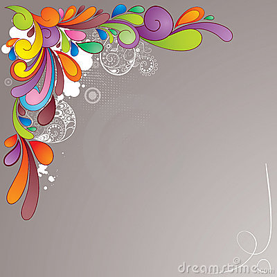 Colorful hand drawn background