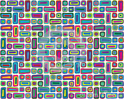 Colorful Hand Drawn Retro Pattern