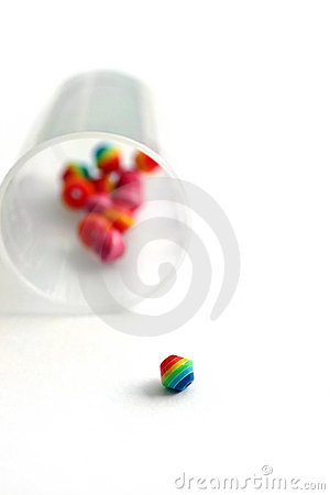 Colorful handicraft beads