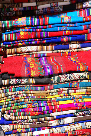 Colorful handmade blankets
