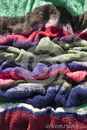 Colorful handmade knitted texture