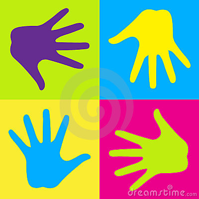 Free Colorful Hands Royalty Free Stock Photos - 18920888
