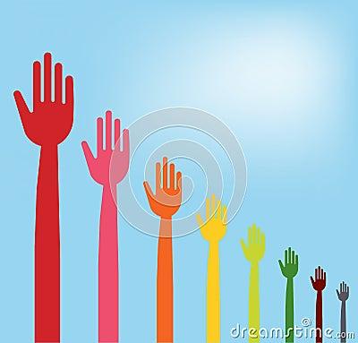 Colorful hands descending graph