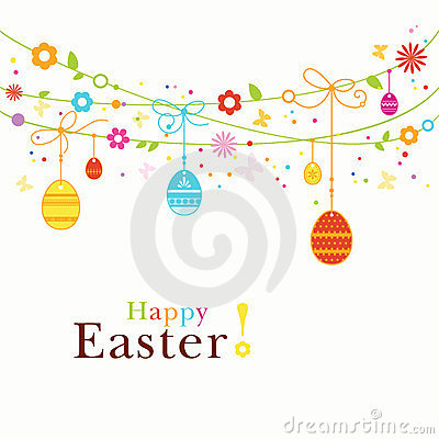 Free Colorful Happy Easter Border Royalty Free Stock Image - 23608726