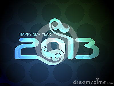 Colorful happy new year 2013 design.