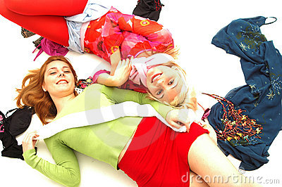 Colorful happy teenagers 7