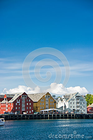 Colorful harbour buildings