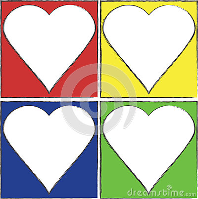 Colorful Heart Frames