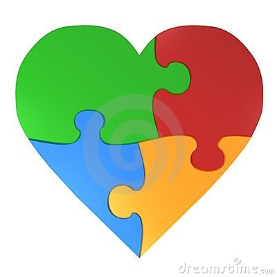 Free Colorful Heart Puzzle Royalty Free Stock Images - 5235339