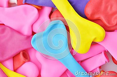 Colorful Heart Shape Balloons.