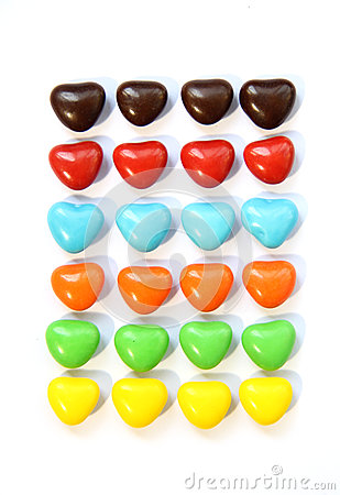 Free Colorful Heart Shape Candy Stock Images - 53455714