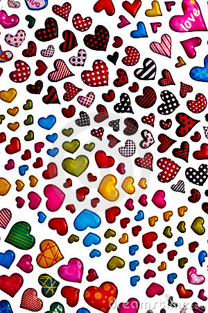Colorful heart shape isolated on white background