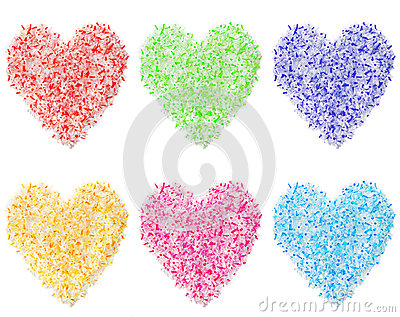 Colorful Heart Shapes