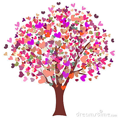 Colorful Hearts Tree