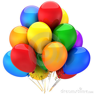 Free Colorful Helium Balloons (Hi-Res) Royalty Free Stock Image - 16550276