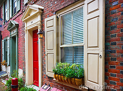 Colorful historical houses in Philadelphia