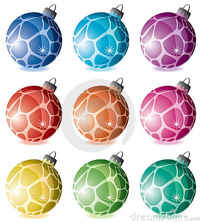 Colorful holiday balls