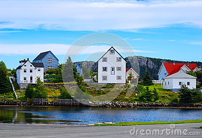 Colorful homes in newfoundland royalty free stock photo for Home plans newfoundland