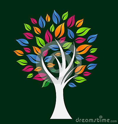 Colorful Hope Tree Logo