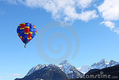 Colorful hot air balloon Editorial Stock Photo