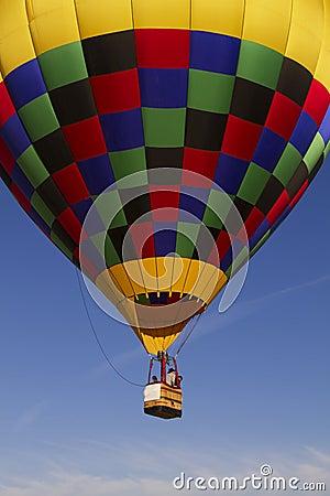 Colorful Hot Air Balloon Over Arizona