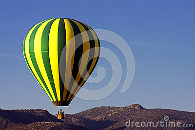 Colorful Hot Air Balloon Over The Arizona Desert