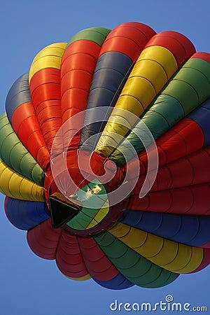 Colorful Hot Air Balloon Rising