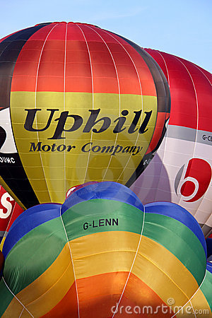 Colorful hot air balloons Editorial Stock Image