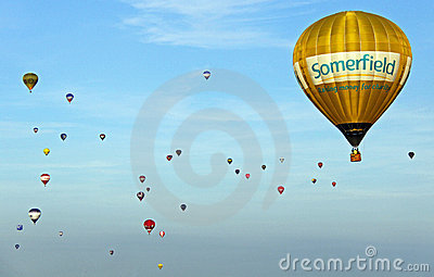 Colorful hot air balloons Editorial Photography