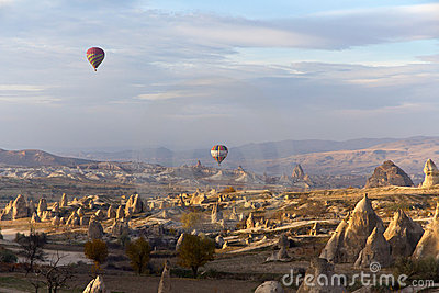 Colorful Hot Air Balloons in Cappadocia, Turkey Editorial Stock Image