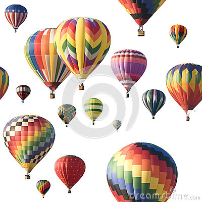 Free Colorful Hot-air Balloons Floating Against White Royalty Free Stock Photos - 33557408