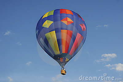 Colorful hotair balloon with blue sky