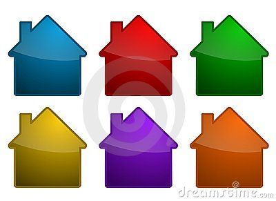 Colorful house symbols