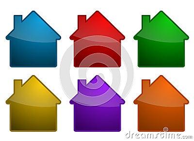 Colorful house symbols