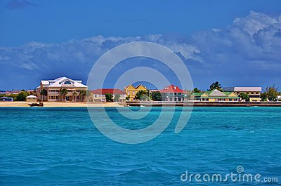 Colorful houses on a bay Stock Photo