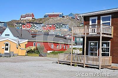 Colorful houses, buildings in Qaqortoq, Greenland