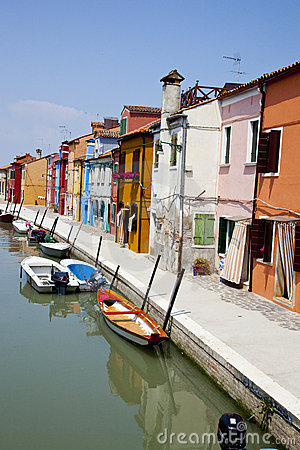 Colorful houses at Burano island