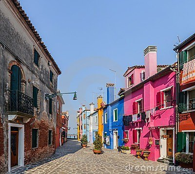 Colorful houses Burano. Italy